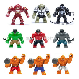 Wholesale Decool Super Heroes - Decool Super Heroes The Avengers iron man hulk buster Fantastic Four Big Thing Action Figures figures Building Blocks toys