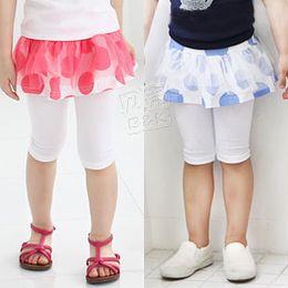 Wholesale Dress Polka Dot Pants - Wholesale-Wholesale 2015 summer polka dot summer girls clothing baby child gauze dress trousers 5 capris H0042