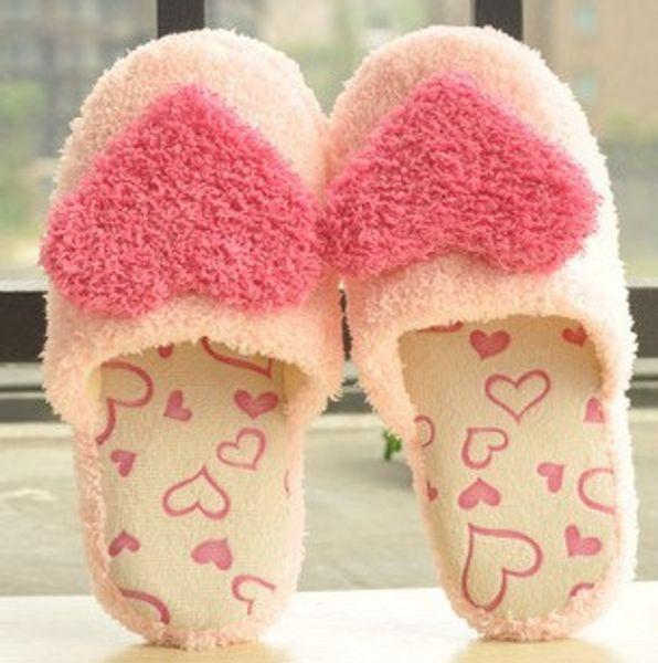 Atacado-mulheres casa chinelos temporada casa-slip piso interior Coréia chiqueiro chinelos casa linda rosa chinelos de algodão menina ls936