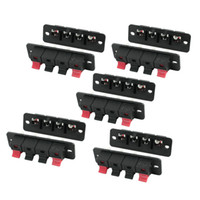 Wholesale Pcb Terminal Pin - 10Pcs PCB Mount 1 Row Vertical 4 Position 4 Pin Speaker Terminal Connector