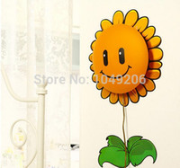 autocollants de tournesol pour mur achat en gros de-Gros-2015 Wall Paper nouveauté autocollant bricolage 3D Lampe bébé Childern Chambre Cartoon Dog tournesol Pig Night Light