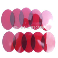 Wholesale Lens For Flashlight - Wholesale-42x2.0mm Red Coated Glass Lens for UltraFire C8 Flashlight