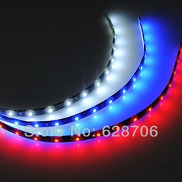 bande flexible néon led bleu Promotion Vente en gros-10x 30cm SMD LED Flexible étanche voiture van camion moteur Neon Strip Light White / Red / Blue