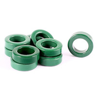 Wholesale Inductor Core - 10 Pcs 14mm Inside Dia Transformer Inductor Ferrite Toroid Cores Green