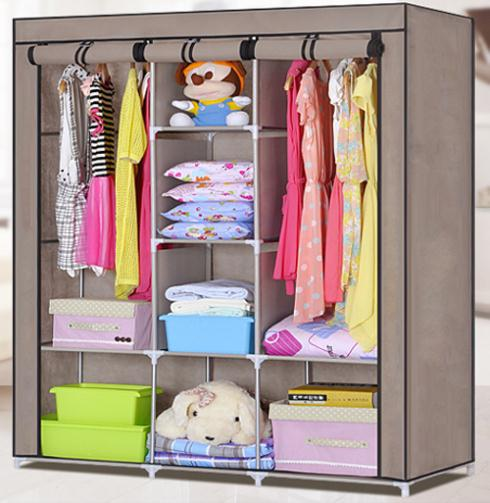 Wonderful Brand New Double Easy To Assemble Closet Portable Wardrobe Large Space  Clothes Storage Closet From Bestangel, $90.44 | Dhgate.Com