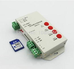 Wholesale Controler 24v - Wholesale-T1000 SD card Programmable RGB LED strip Controller Led pixel controler,support WS2801,LPD6803,WS2811,TM1804,TM1809,LPD8806,etc