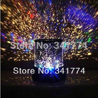 Wholesale Light Projectors For Kids - Wholesale-Novelty LED Planetarium Night Lights Starry Sky Star Master Projector Table Lamp Luminarias Gift for Kids Bedroom Christmas