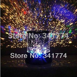 Wholesale Bedroom Projector Lights - Wholesale-Novelty LED Planetarium Night Lights Starry Sky Star Master Projector Table Lamp Luminarias Gift for Kids Bedroom Christmas