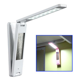 Wholesale Multifunction Rechargeable Portable - Wholesale-180 Degree Rotary Foldable Multifunction Rechargeable Portable Folding White LED Light Desk Lamp, Dimmable