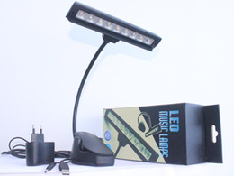 Wholesale Clamp Reading Light - Wholesale-9 LED Flexible Music Stand Light Super Wide Bright Lamps Book Reading Lighting Desk Lamp Clip Clamp Free Shipping