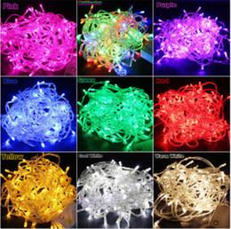 Wholesale Blue Christmas Bulbs - Wholesale-10M 100-LED Bulbs Waterproof String Lights For Christmas Fairy Party  9 Colors 110V 220V Christmas lights freeshipping
