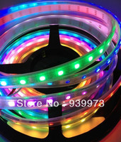 Wholesale Holiday Ics - Wholesale-5m ws2811 50 ICs 5050 digital RGB Strip,150LED IP67 tube waterproof dream magic color 12V Led Strip,30LED m + controller