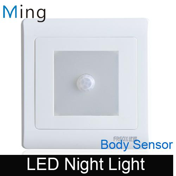 Großhandels-Neues Design-Körper-Sensor LED-Wand vertiefte Nachtlicht, capatible mit Kastenart des Kastens 86 einfach zu insall, freies Verschiffen