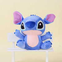 Wholesale Soft Baby Teddy - Wholesale-Soft Stitch Plush from Lilo and Stitch Cuddly Toy Doll Baby Kids Toy 18cm free shipping