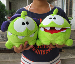 "Discount soft toys cuttings - Wholesale-Cut The Rope 8"" Happy Om Nom Plush Soft Toy Sound Plush Toys one piece sale"