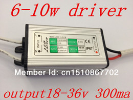 Wholesale 36v Power Supply - Wholesale-hot sale 6w 7w 9w 10w LED driver,6-10w power supply,input AC85-265V,output DC18-36V 300MA waterproof IP67,factory direct sale.