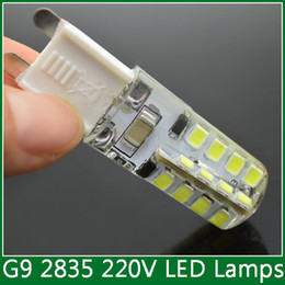 Wholesale Pendant Spotlights - Wholesale-10x G9 32 led 2835 SMD AC 220V 7W LED Lamp corn light bulb Lamp Spotlight silicone pendant crystal chandelier christmas