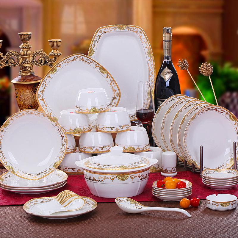 Dinnerware Sets Tableware Coverall Wedding Gifts Preferred European Bone China Manufacturers Wholesale Square Steeds