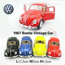 Wholesale Volkswagen Beetle Vw - Wholesale-1:32 Volkswagen Beetle 1967 Classic vw Cars Kids Antique Model Toys Car Classic Vintage Alloy Car Model Wholesale Free Shipping