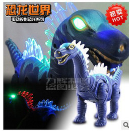 Wholesale Dinosaur Electric - Wholesale-Electric educational simulation dinosaur with sound light projection electric toy