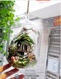 Wholesale Unisex Dollhouse - Wholesale-Christmas Gift Pakitoy DIY Glass Ball Doll House Model Building Wooden Mini Handmade Fairy dollhouse -- miniature jungle dream