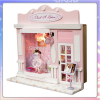 Wholesale Love Doll Shopping - Wholesale-13501 love life night market diy Europe dollhouse Various shops Handmade doll houses store free shipping