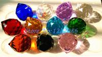 bolas de cristales de feng shui al por mayor-Comercio al por mayor 40 unids 40 mm bola de cristal facetada color mezclado araña bola de cristal Suncatcher Feng Shui (11 colores elegir)