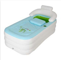 Wholesale Disposable Bath Tubs - Wholesale-2015Free ship Adult PVC Folding Portable Bathtub Inflatable Bath Tub With Zipper Cover hot sale nice designer