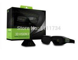 Wholesale 3d Nvidia - Wholesale-free shipping Nvidia 3d original vision 2 sencond generation wireless stereo vision glasses kit VG278HE VG248QE