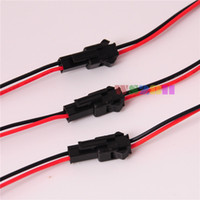 Wholesale Waterproof Plug Pin - Wholesale-Free Shipping 20Pair 2 pin JST Male Female plug LED Connector Cable For Single Color LED Strip Waterproof with 15cm Long Wire