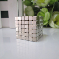 Wholesale magnetic cubes - Wholesale-Free shipping 216pcs 4mm buckycube magnetic cube neocube cybercube magcube Packed at round tin box nickel color