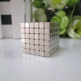 Wholesale Nickel Boxes - Wholesale-Free shipping 216pcs 4mm buckycube magnetic cube neocube cybercube magcube Packed at round tin box nickel color