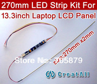 Wholesale Ccfl Pc - Wholesale-13.3inch 270mm Adjustable brightness led backlight strip kit,Update your 13.3inch laptop ccfl lcd to led panel screen
