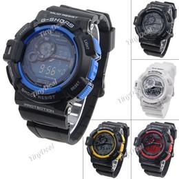 Wholesale Electronic Calendar Alarm - Wholesale-Practical LCD Electronic Watch Digital Wrist Watch Stopwatch Timepiece with Alarm Clock & Calendar for Man Gentlemen