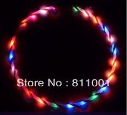 "Wholesale Led Hula Hoops Wholesale - Wholesale-Promotion 36""   90cm LED Glow Hula Hoop 24 LED Multicolor Performance Hoop Sports Toys Loose Weight wholesale"