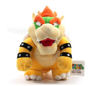 "Wholesale white teddy bears - Wholesale-10"" Super Mario Plush --Bowser Soft Stuffed Plush Toy Loose CJ323"