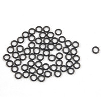 Wholesale O Ring Washers - 50 Pcs 5mm x 1mm x 3mm Mechanical Black NBR O Rings Oil Seal Washers