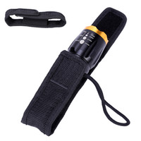Wholesale Cree Flashlight Pouch - Wholesale-10pcs lot 13x3.8cm Nylon Holster Holder Belt Pouch Case for Cree LED Flashlight Torch FREE SHIPPING