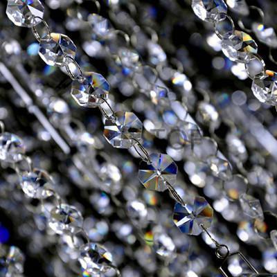 5M funkeln AAA Crystal Garland Strang hängen 14mm Achteck Kugelkette für Hochzeit Baum Weihnachtsfeier Dekor