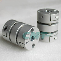 Wholesale flexible motor couplings - New Flexible Aluminum alloys double diaphragm coupling for servo and stepper motor coupling D=68 L=75 ,D1 and D2 are 14 to 35 MM