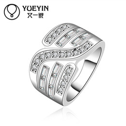 Wholesale Cross Rings For Sale - R578-8 Hot sale wholesale women 925 silver ring cross cz Engagement Rings for women top quality ring