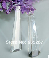 Wholesale Wholesale Chandelier Prisms - Wholesale-10pcs lot ,63mm crystal drop prism, transparent color, crystal curtain drop pendant , chandelier parts for hanging pendant