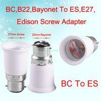 Wholesale Socket Light Convertor - Wholesale-EB3421 B22 TO E27 FEMALE LIGHT CONVERTOR SOCKET BULB ADAPTER LED HALOGEN HOLDER BASE