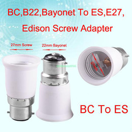 Wholesale E12 E27 Holder - Wholesale-EB3421 B22 TO E27 FEMALE LIGHT CONVERTOR SOCKET BULB ADAPTER LED HALOGEN HOLDER BASE