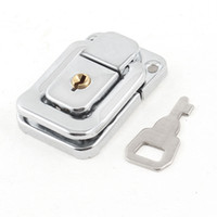 Wholesale Steel Suitcases - Silver Tone Stainless Steel Suitcases Case Box Hasp Latch Lock w Key