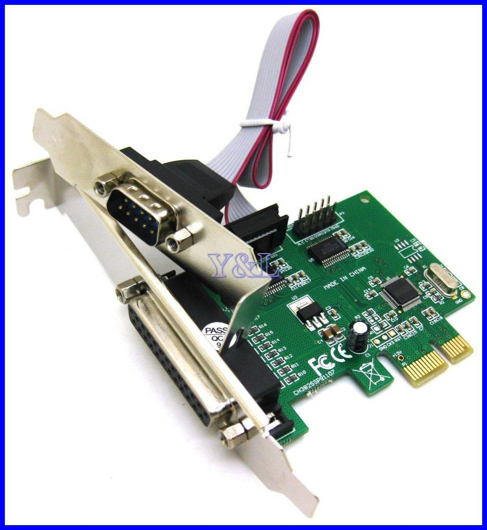 Rs232 rs 232 serial port com db25 printer parallel port lpt to pci e pci express card adapter - Parallel port and serial port ...