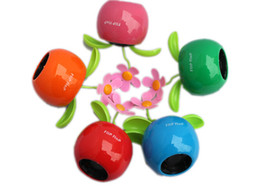 Wholesale Solar Plastic Flowers - New Arrive Solar Powered Flip Flap Flower Cool Car Dancing Toys Wholesale M113