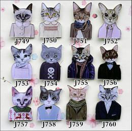 Wholesale Cute Badges - Yakeli the latest Japanese harajuku badge pin Cute cat meow star control people J749-J760