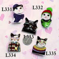 broches de acrílico gato broches al por mayor-Buena calidad broches de acrílico insignia HARAJUKU broche accesorios cat pin regalo de navidad