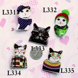 Broche de buena calidad online-Buena calidad broches de acrílico insignia HARAJUKU broche accesorios cat pin regalo de navidad